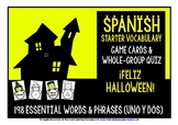 SPANISH VOCABULARY HALLOWEEN GAMES & QUIZ 198 WORDS & PHRASES
