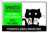 SPANISH VOCABULARY HALLOWEEN GAMES & QUIZ 99 WORDS & PHRASES (1)