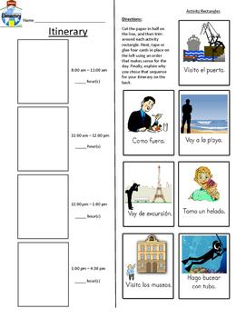 SPANISH Vacation Vocabulary Practice