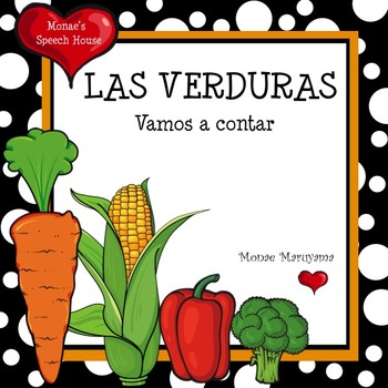 SPANISH Vegetable Counting Book: ELL