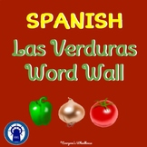 SPANISH Vegetables Word Wall