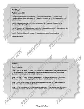 SPANISH Version Entrance and Exit Tickets Set for any Subject Area