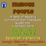 SPANISH Version Famous People Readings & More Mega Bundle