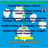 SPANISH Version Health & Wellness Money-Saving Super Bundle for Google Slides™
