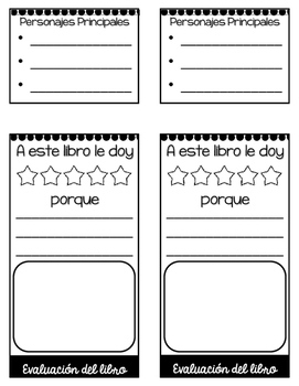 SPANISH Version: Story Elements Flip Book - Illustration Version