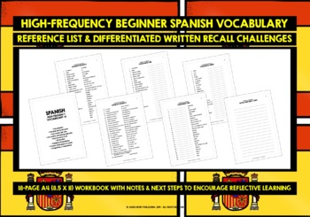 SPANISH VOCABULARY 99 WORDS & PHRASES PRACTICE & REVISION (1)