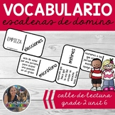 SPANISH Vocabulary Dominoes CENTER - Grade 2 Unit 6