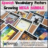 SPANISH Vocabulary Posters ENDLESS GROWING MEGA BUNDLE
