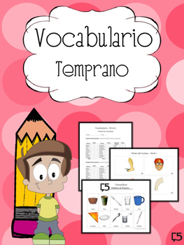 SPANISH Vocabulary Resource & Progress Monitoring Packet for the Little Ones