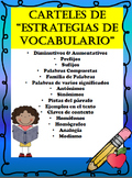 SPANISH Vocabulary Strategies-Estrategias de vocabulario