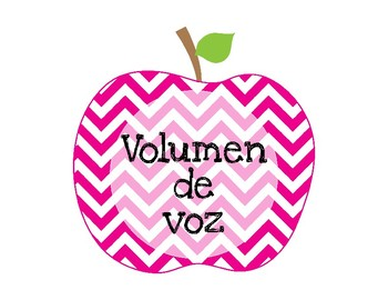SPANISH Voice Volume Posters