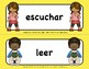 SPANISH WORD WALL - ACTION VERBS - NEW!