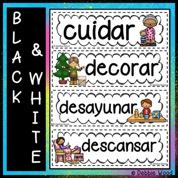 Spanish Classroom Decor WORD WALL BUNDLE:  Regular Verbs