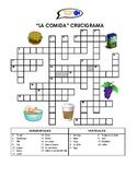 SPANISH WORKSHEETS! - Food Vocabulary Crossword Puzzle
