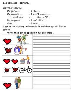 SPANISH - WORKSHEETS - Hobbies