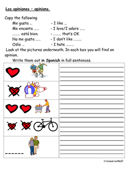 SPANISH - WORKSHEET - Hobbies and Leisure