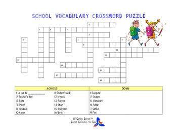 SPANISH WORKSHEETS! - Telling Time & School Vocabulary