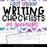 SPANISH Writing Checklists - First Grade