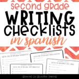 SPANISH Writing Checklists - Second Grade