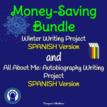SPANISH Writing Projects Bundle: Autobiography and Winter Storybook