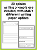 SPANISH Writing Prompts For Kindergarten Opinion Writing