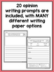 SPANISH Writing Prompts for First Grade Opinion Writing