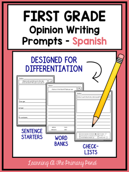 spanish writing prompts for first grade opinion writing tpt