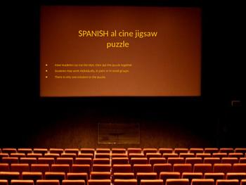 SPANISH al cine jigsaw puzzle