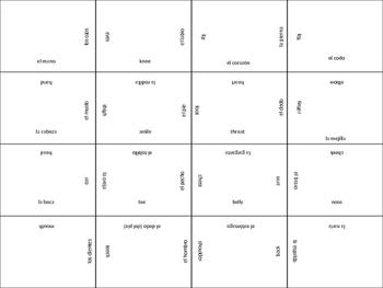 SPANISH body parts jigsaw puzzle
