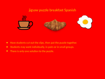SPANISH breakfast jigsaw puzzle