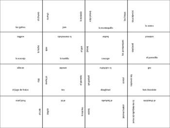 SPANISH breakfast jigsaw puzzle