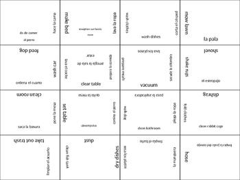 SPANISH chores jigsaw puzzle
