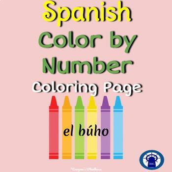 SPANISH Color by Number Practice (Owl)