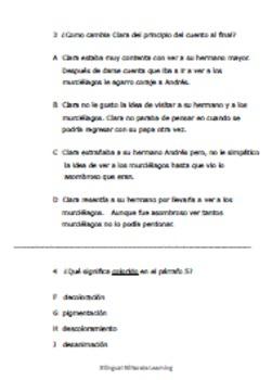 SPANISH cuento de ficción:  El hermano mayor y los murciélagos-NO PREP needed!