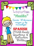 SPANISH cuento de ficción:  El hermano mayor y los murciél