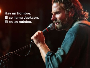 SPANISH easy comprehensible A STAR IS BORN ppt Story