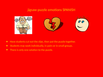 SPANISH emotions jigsaw puzzle