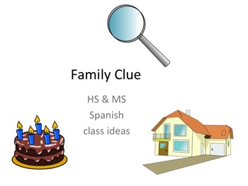 SPANISH family CLUE group activity