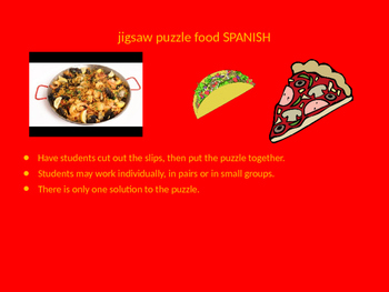 SPANISH food jigsaw puzzle
