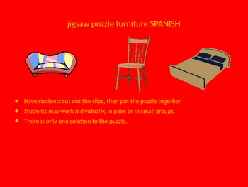 SPANISH furniture jigsaw puzzle