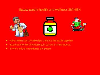 SPANISH health and wellness jigsaw puzzle