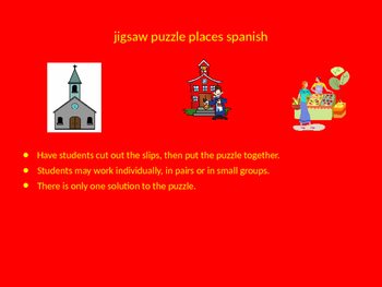 SPANISH places jigsaw puzzle