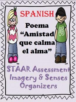 """SPANISH poem """"Amistad que calma el alma"""" COMPLETE with Organizers"""