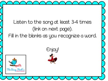SPANISH present tense and present perfect verbs Cloze activity song Ricky Martin