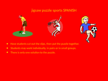 SPANISH sports jigsaw puzzle