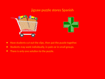SPANISH stores jigsaw puzzle