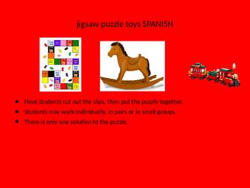 SPANISH toys jigsaw puzzle