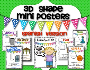 **SPANISH**Math 3D Shape {Mini Posters} for the Primary Classroom