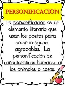 "SPANISH ""Elementos Literarios"""
