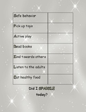 SPARKLE Behavior Chart